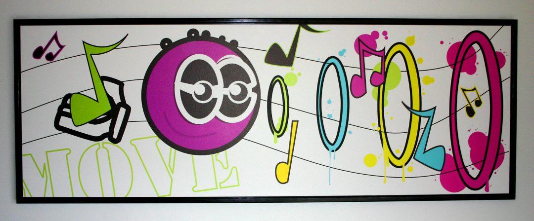 Print på lærred - elsker musik