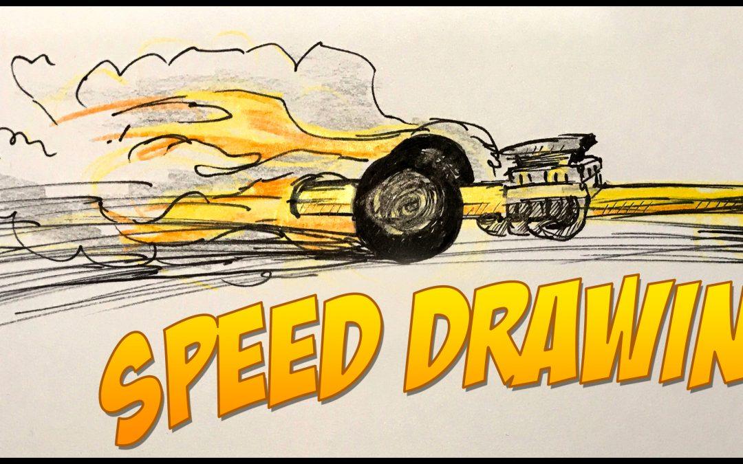 1 Speeddrawing  om ugen i et år – Bliv oplyst og underholdt