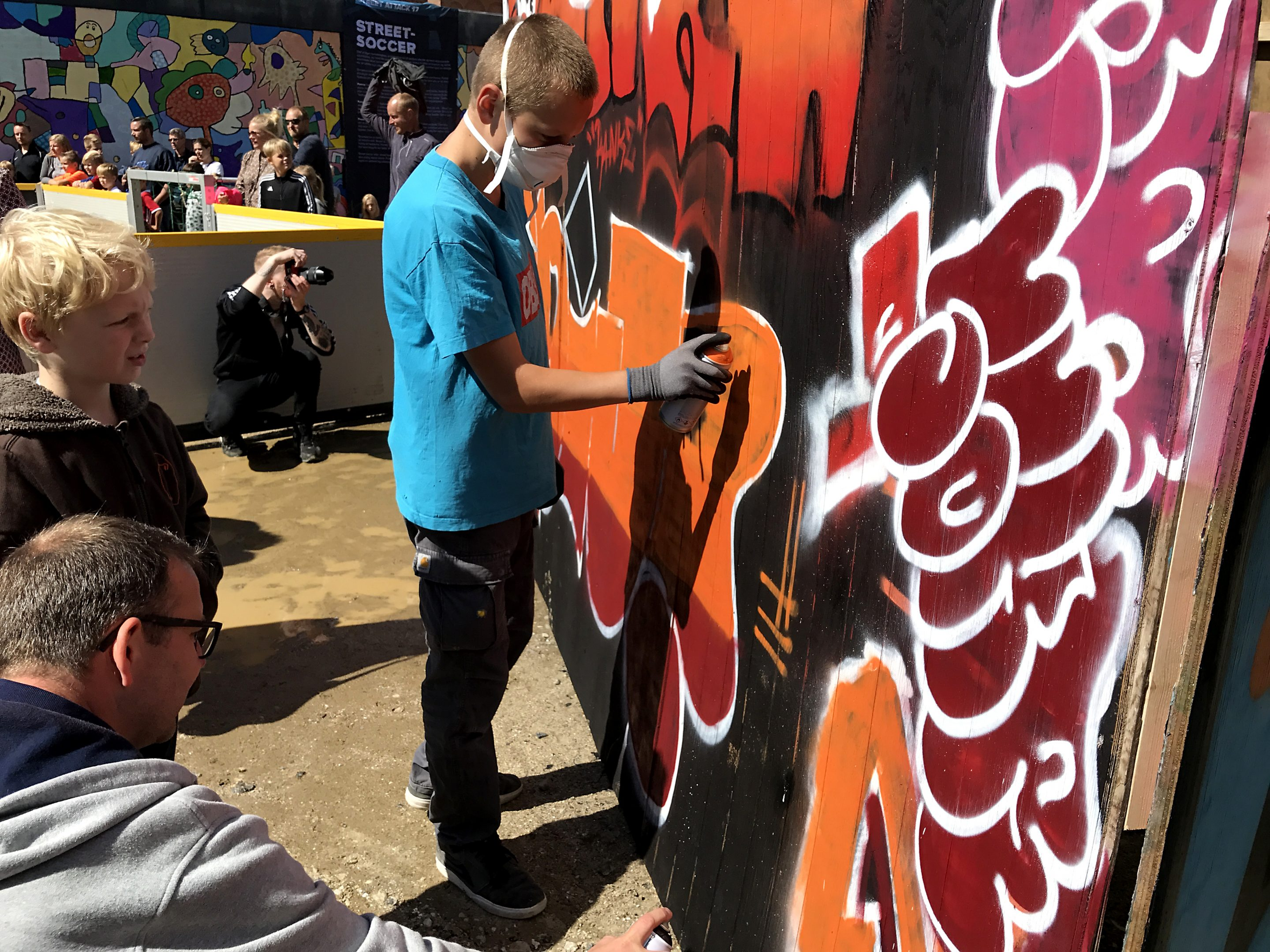 Ung graffitimaler Street Attack 2017 i silkeborg