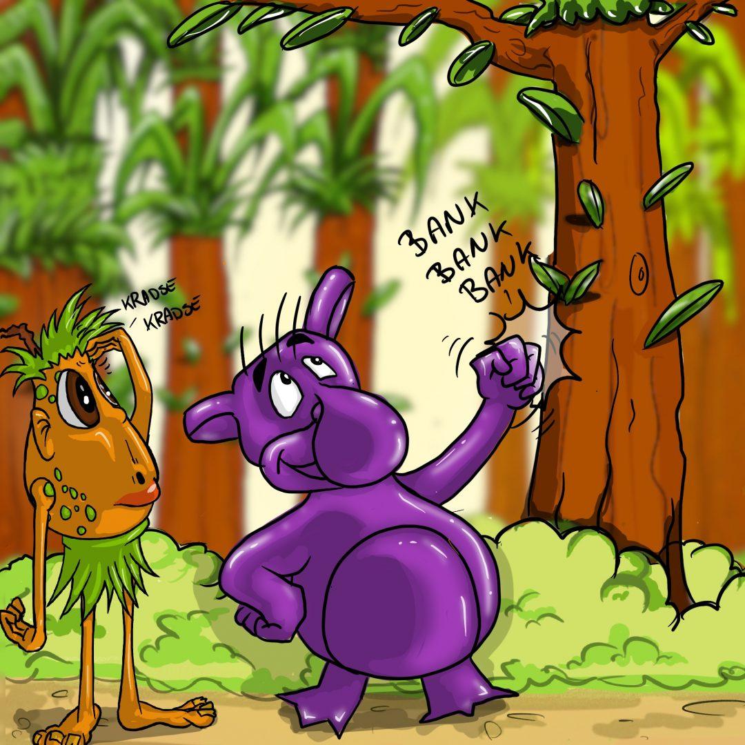 Mawlegumpen banker på træ